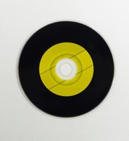 Turn an old vinyl record into a party decoration.