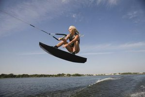 A properly sized wakeboard gives the rider control.