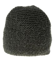 An example of a hat made with reverse stockinette stich.