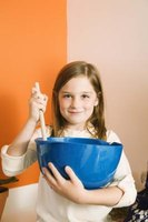 Children can assist in creating no-bake salt dough.