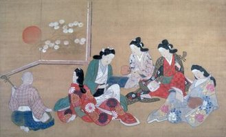 Japanese artists used a variety of materials to achieve typical Japanese artistic features.