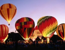 Hot air balloons are sewn from ripstop nylon.
