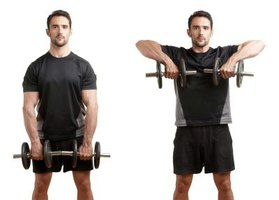 Maintain good form when you perform dumbbell rows.
