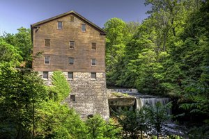 Lanterman's Mill sits in Youngstown's Mill Creek Park.