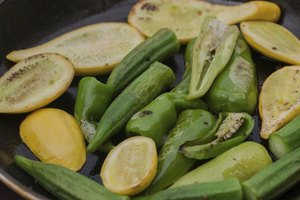 You can drain and saute canned okra until tender or simply simmer it.