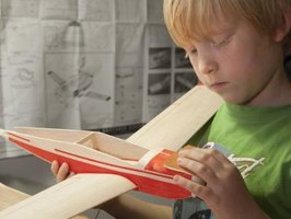 Balsa and basswood are used to construct model planes.