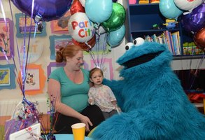 "Serve blue, furry Cookie Monster cupcakes at a ""Sesame Street"" party."