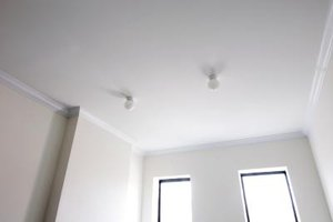 Overhead beams help enhance a bare ceiling.