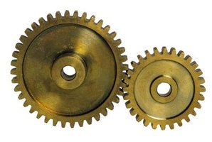 Sprockets work with a chain drive to propel machinery.