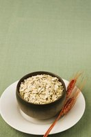 Grains, like oatmeal, provide carbohydrates and energy from calories.