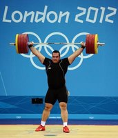 The snatch is one of the lifts contested in Olympic weightlifting.