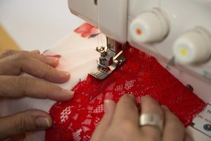 Sewing lace into DIY lingerie gives it a more feminine appearance.