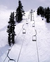 Double black diamond ski slopes are designed for expert skiiers.