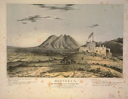 Early Lithograph of Saddle Hill and Monterrey
