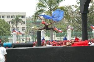Dance is used to heighten aesthetics in theatre.