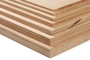 A stack of plywood.