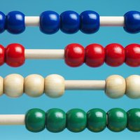 Different colored abacus beads.