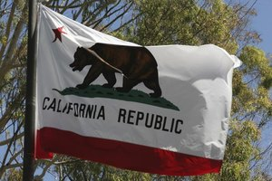 The flag of California.