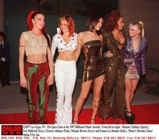The classic Spice Girls line-up: Sporty, Ginger, Posh, Scary and Baby.
