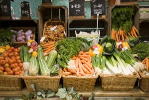 Vegetables at health food store