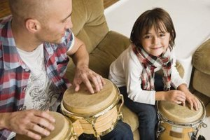 Children love to make music from an early age.
