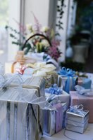 Assortment of wedding gifts.