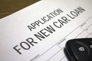 A car loan application form.