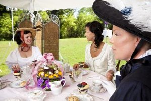 Stage a theatrical ladies luncheon with costumes and elaborate food