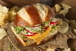 A vegetarian soy burger.
