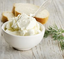 Small bowl of quark cheese