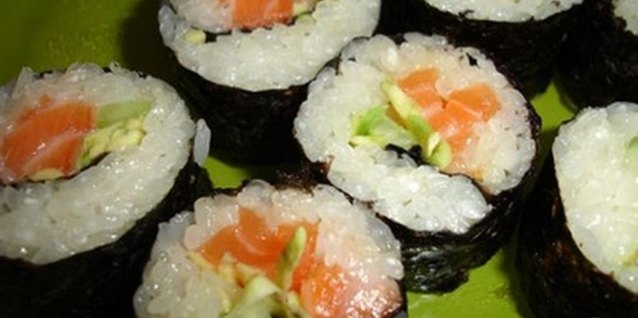 Sushi can be a good source of vitamin B and iron.