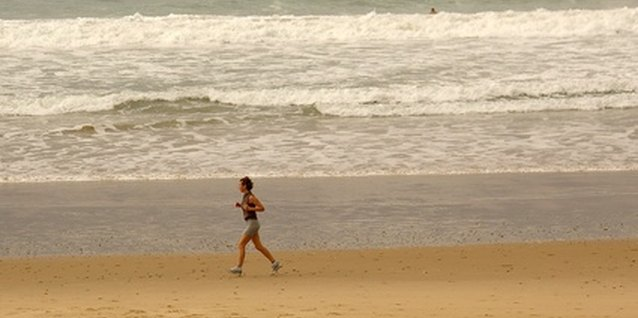 Running on the beach makes exercise more appealing.