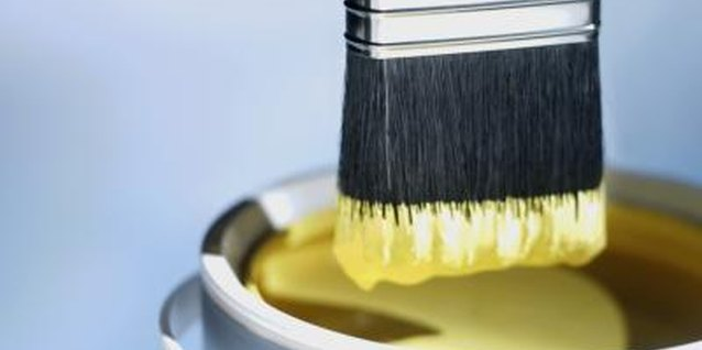 A good quality paint brush will create a sharp line.