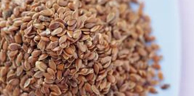 Flaxseeds are a good source of fiber and protein.
