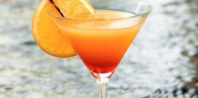 Orange schnapps blends with a variety of liguors and juices to create tasty mixed drinks.