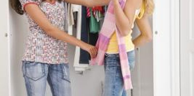 Have your teenager donate clothing she doesn't wear.