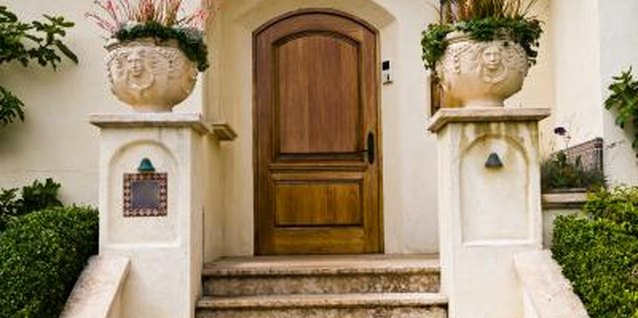 How to Repair A Crack Down the Side of a Wooden Front Door