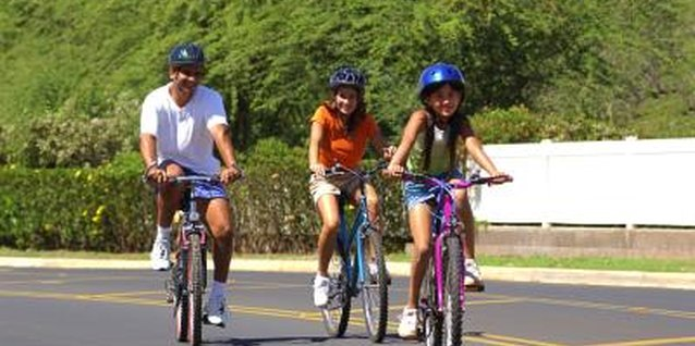 Bike rides are an enjoyable way to promote fitness among all family members.