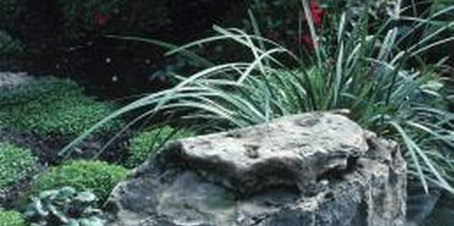 Boulders help make water features look more natural.