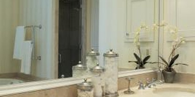 A resurfaced vanity looks appealing in modern bathroom designs.