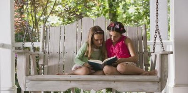 A porch swing is a terrific spot to read with a friend.