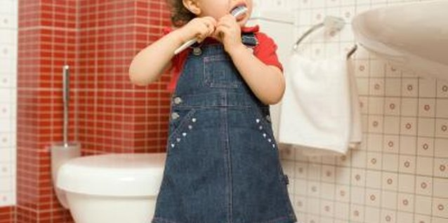 Toddlers should get help with tooth brushing from an adult.