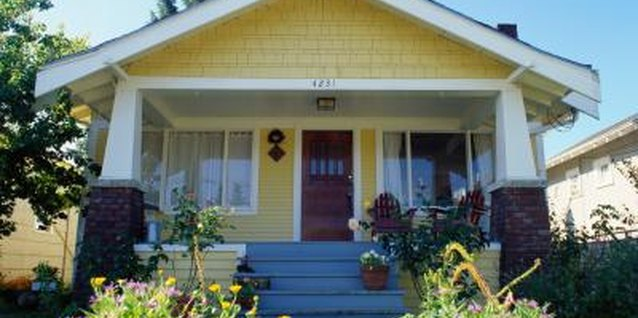 Craftsman-style bungalows are common in the United States.