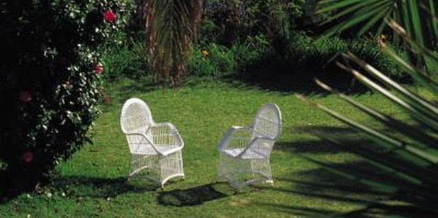 Furniture and other objects on the lawn can cause bald spots.