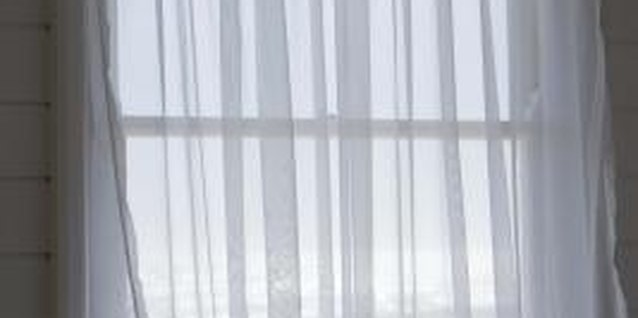 This simple curtain requires no pattern. For more privacy, use fabric that is not sheer.