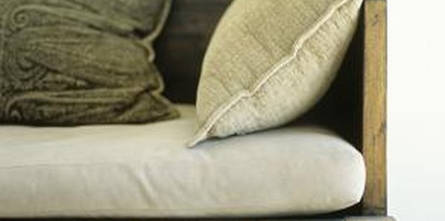 Make neutral-colored fabric cushions to blend in with any decor.