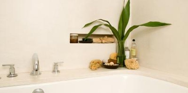 You can even add design touches in the bathroom by decorating recessed niches.