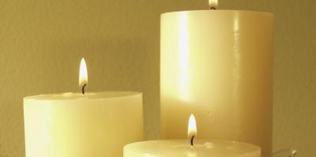 Customize plain pillar candles with printable decals.