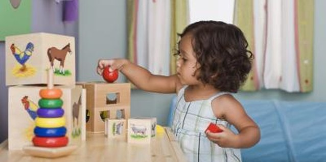 Stacking and sorting toys can teach cause and effect relationships to toddlers.