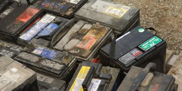 Storing old batteries on your garage floor is asking for trouble.